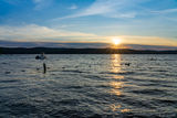 Sunset at Otsego Lake print