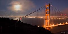 Full Moon at Golden Gate Bridge