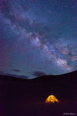 Milky Way, camping,Great Sand Dunes,tent