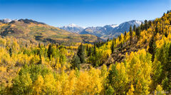 McClure Pass,panorama,Marron Bells - Snowmass Wilderness
