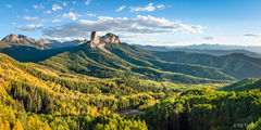 Courthouse Mountain, Chimney Rock, True Grit, Ridgway, Uncompahgre National Forest, sunset