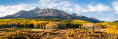 Wilson Peak, Fall, Morning, Uncompahgre National Forest, Colorado, aspen, gold