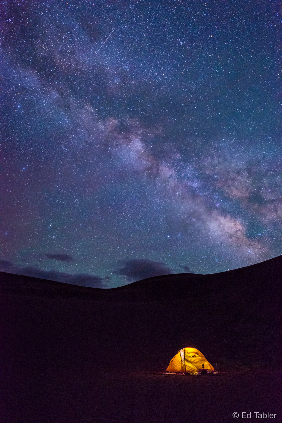 Milky Way, camping,Great Sand Dunes,tent, photo