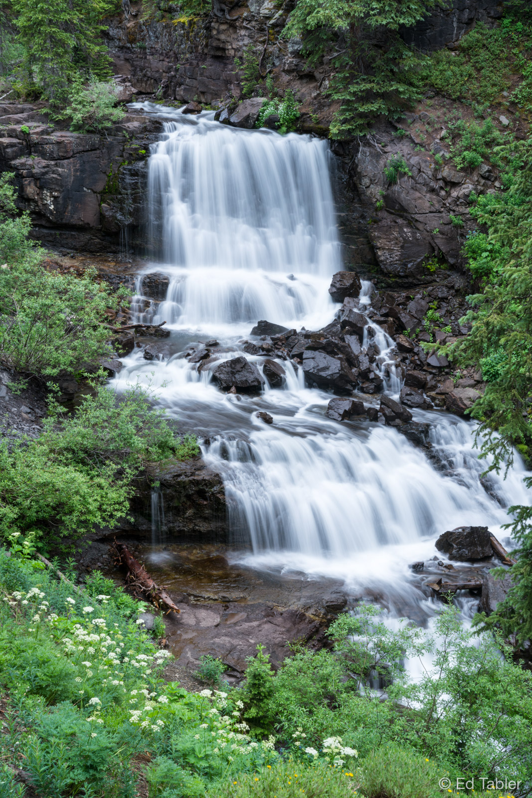 Irwin Falls,Kebler Pass Road,Gunnison National Forest,Crested Butte,Colorado, photo