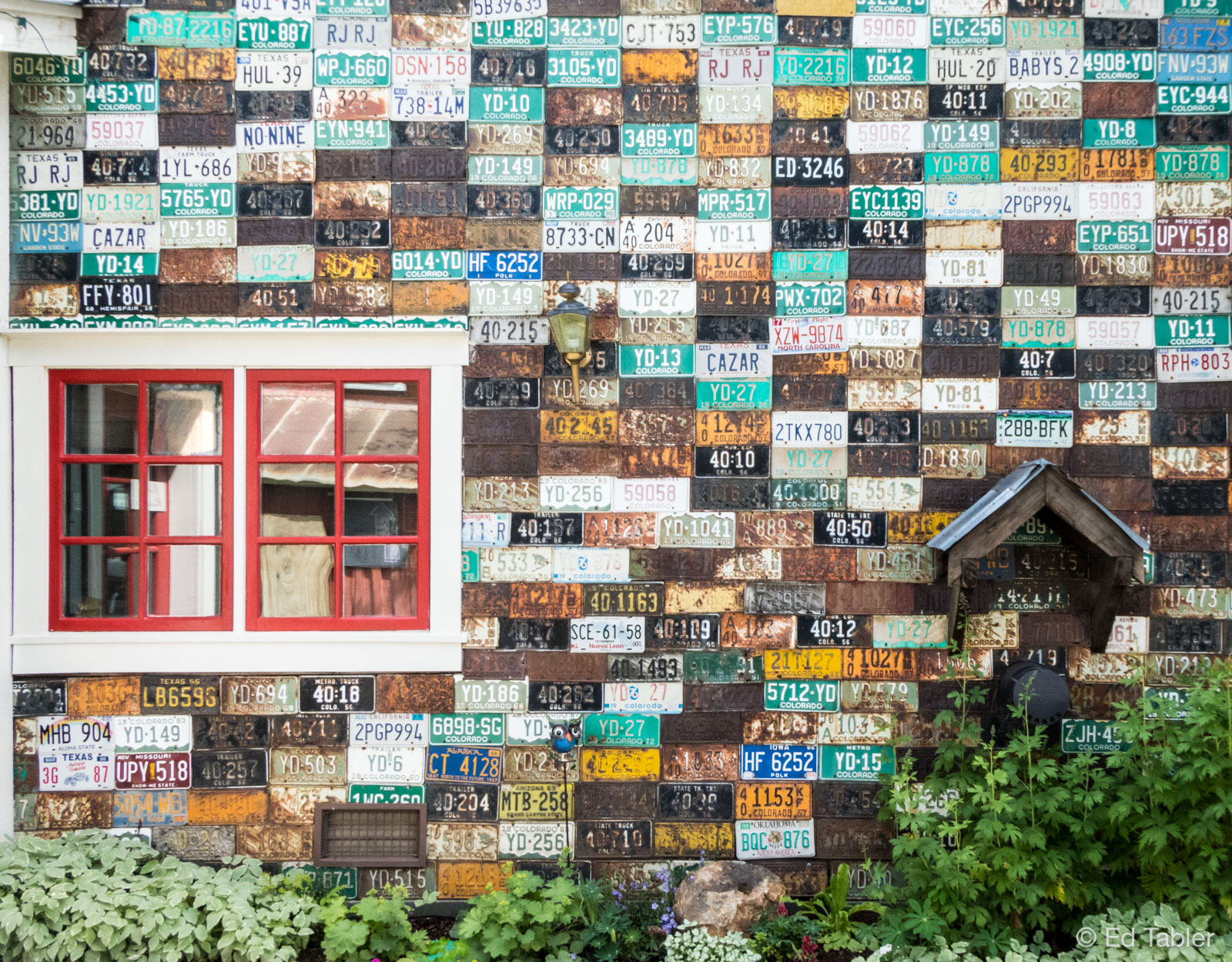 Crested Butte,license plate house