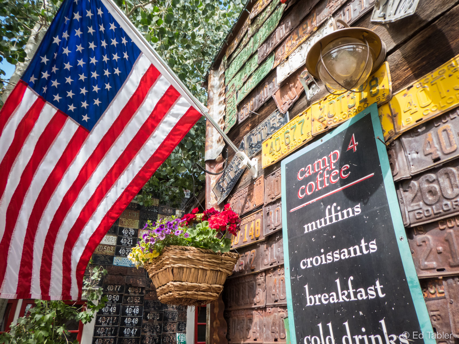 License Plate House,Camp 4 Coffee,Crested Butte,Colorado, photo