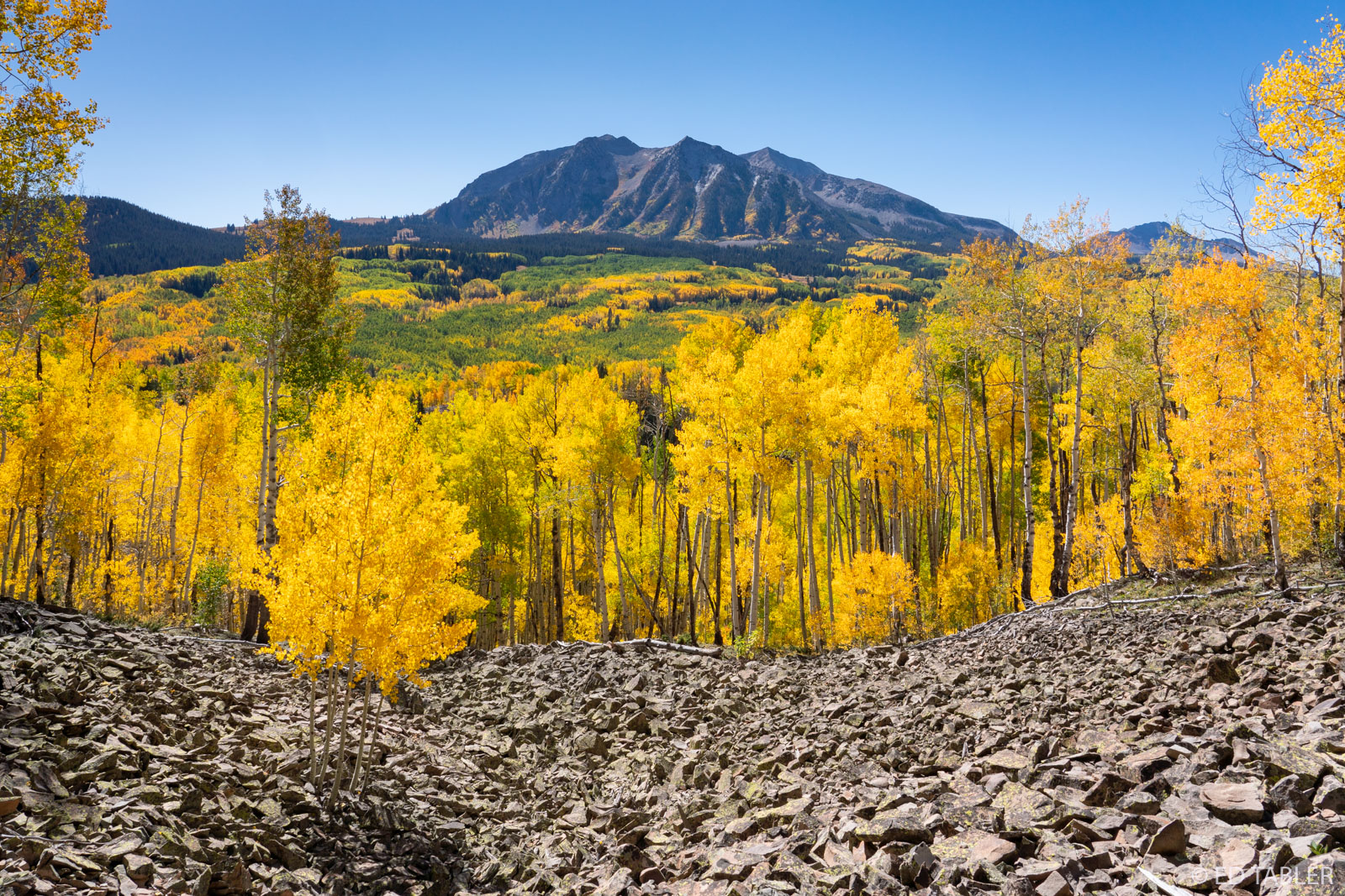 East Beckwith Mountain as viewed from Dark Canyon Trail near Kebler Pass, Colorado.