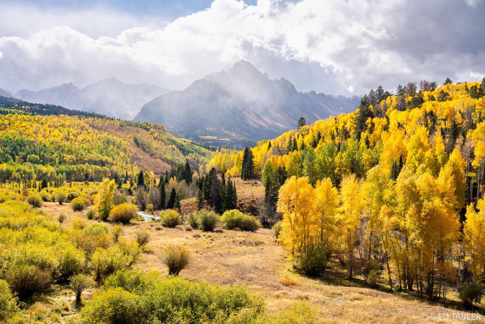 Mt Sneffels has me under its spell. If there is a more beautiful panorama in all of Colorado I have yet to find it. On this particular...